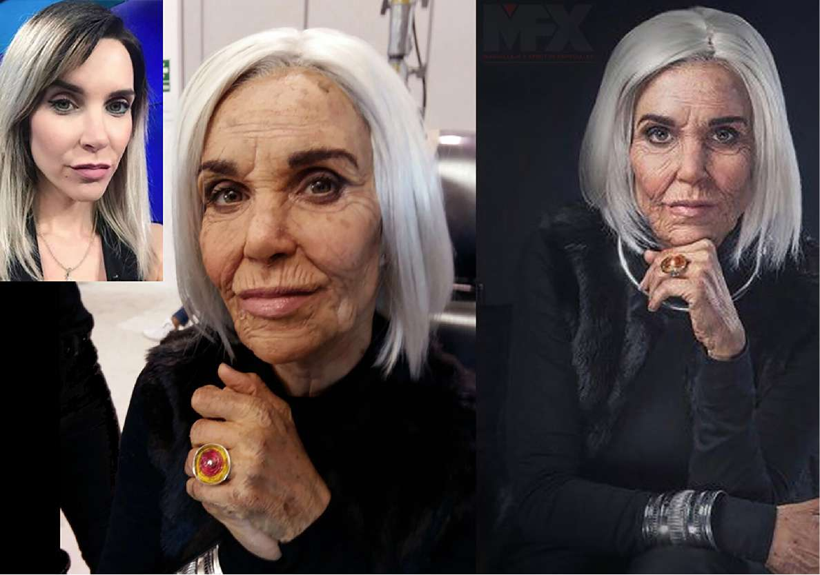 Juliana Oxenford old age makeup. Cine 70, 2017